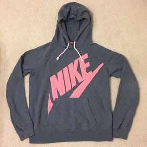 Nike Gray/Pink Pullover Hoodie